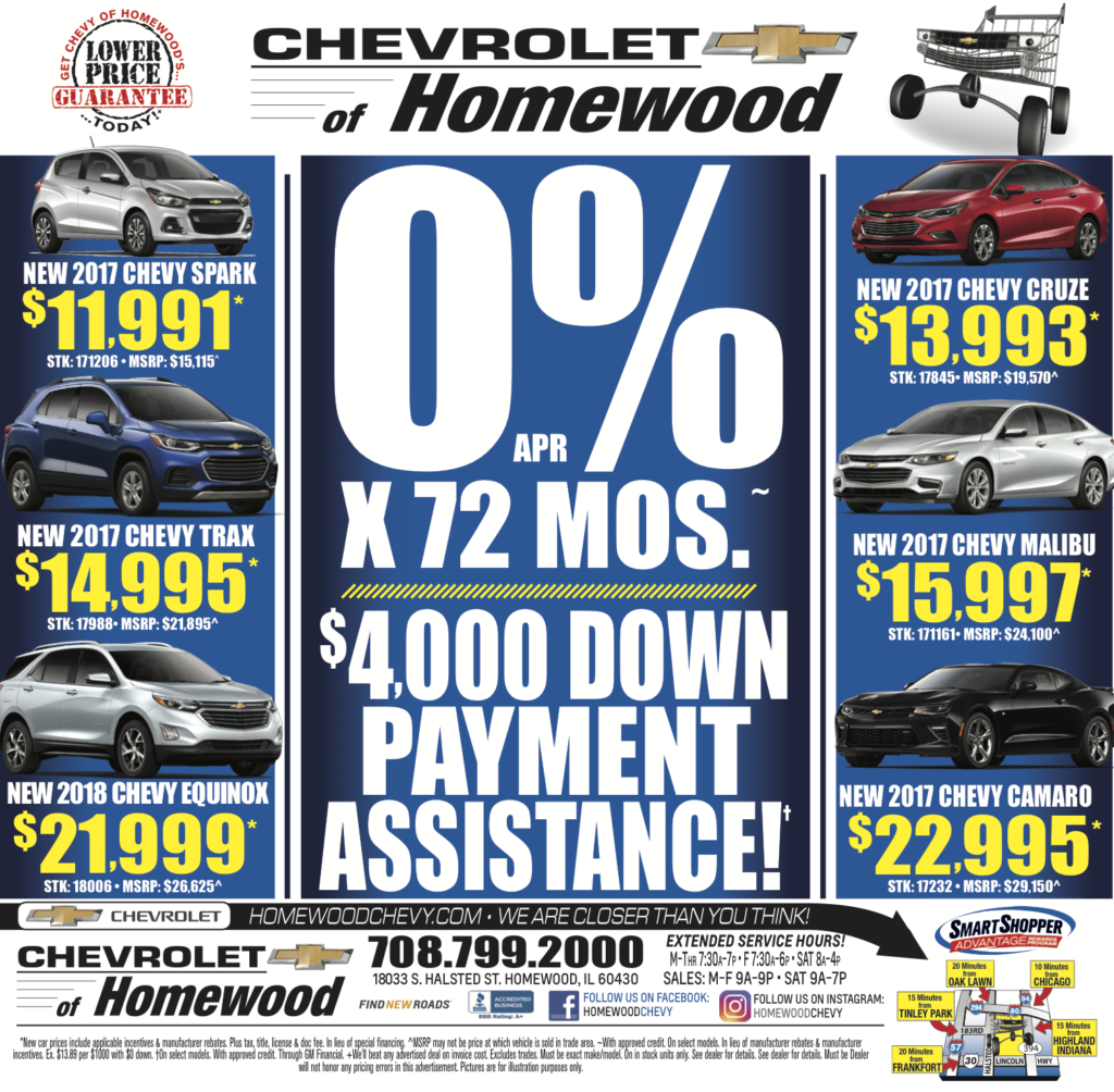 Homewood Chevy Weekly Ad 9/22