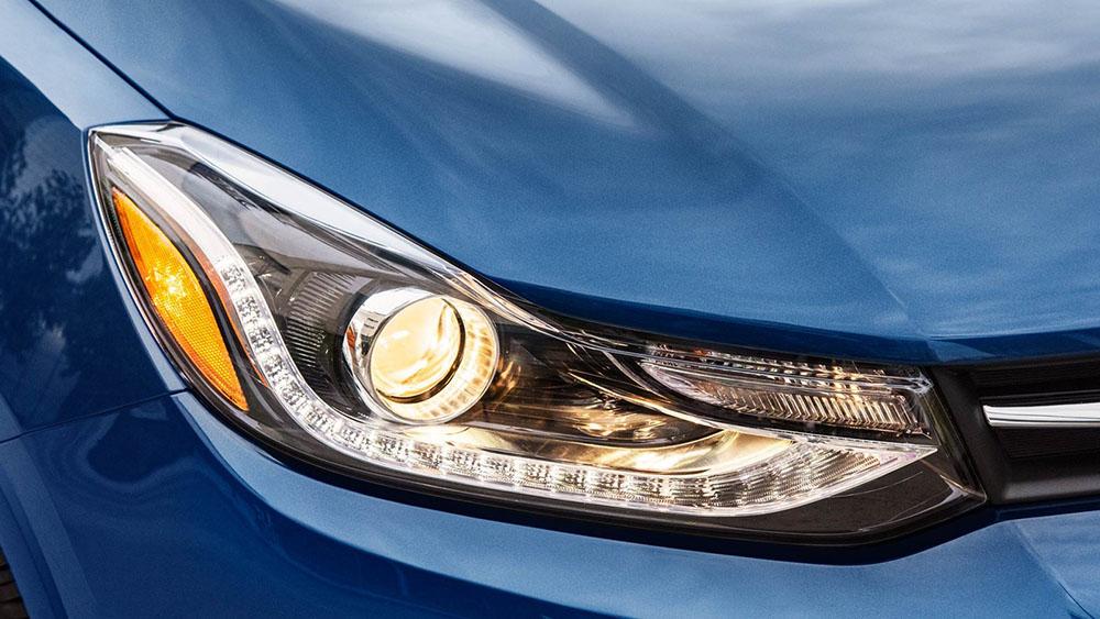 Closeup of headlight