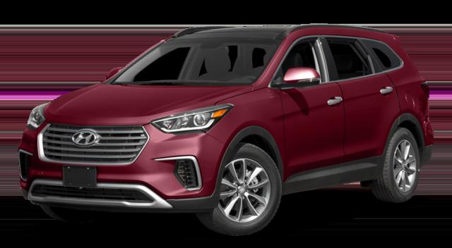 2017 Hyundai Santa Fe Red