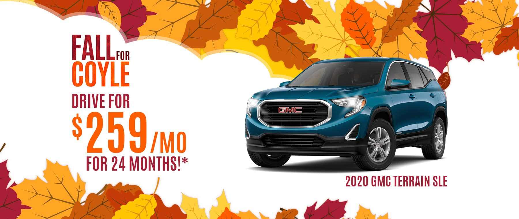 Lease Special on a new GMC Terrain near New Albany, Indiana