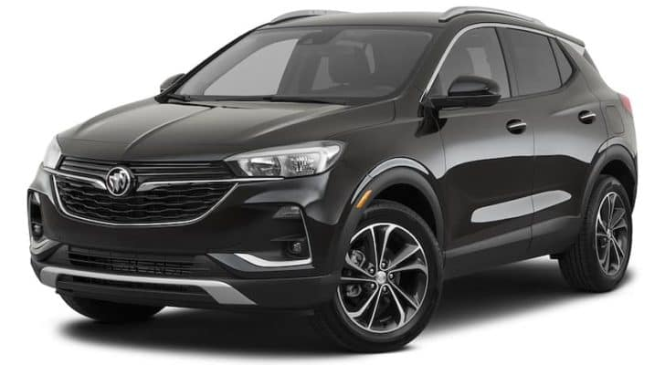 A black 2021 Buick Encore GX is angled left.