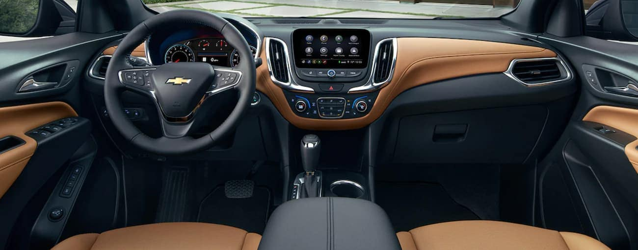 The dashboard and screen are shown in a 2021 Chevy Equinox.