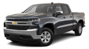 A black 2021 Chevy Silverado 1500 is angled left.