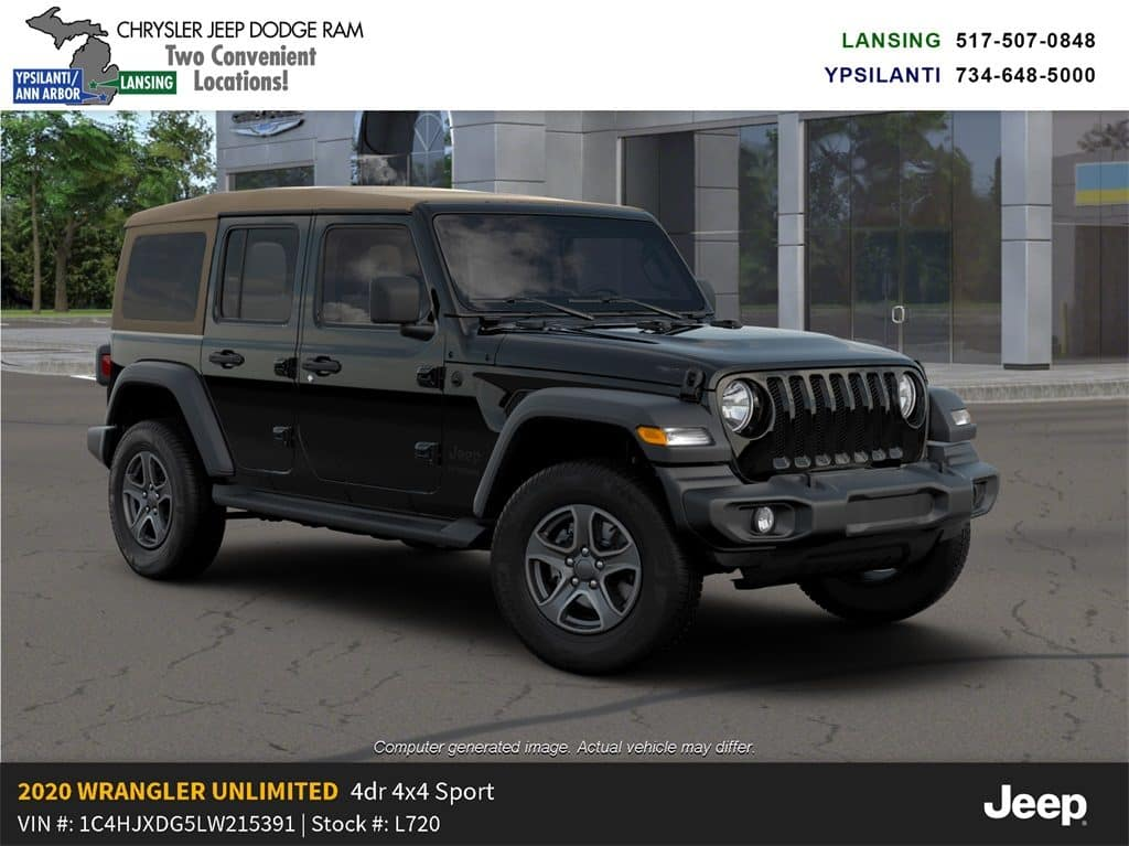 2020 Jeep Wrangler Unlimited Black & Tan 4x4