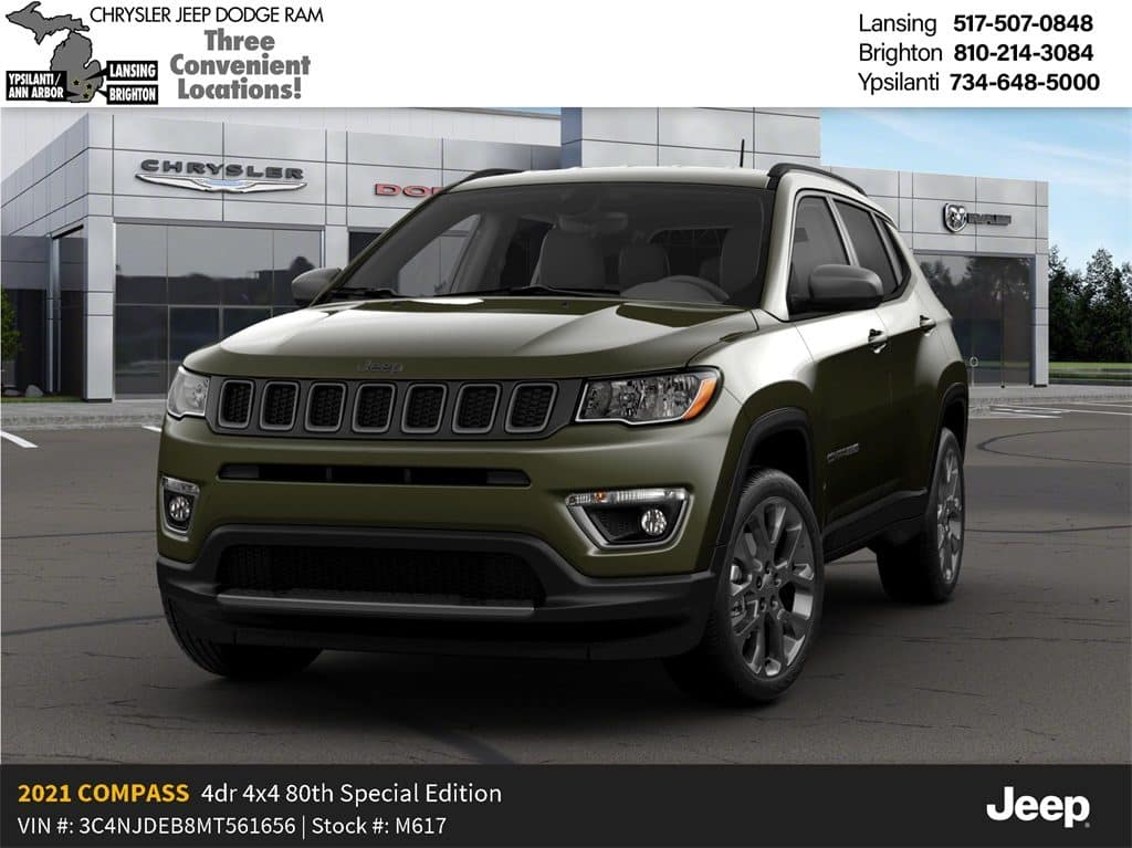 2021 Jeep Compass 80th Anniversary 4x4 Lease Offer