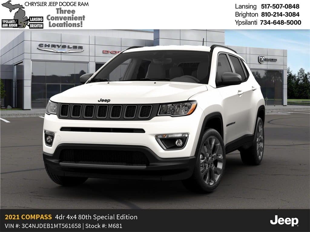 2021 Jeep Compass 80th Anniversary 4x4 December Lease Offer