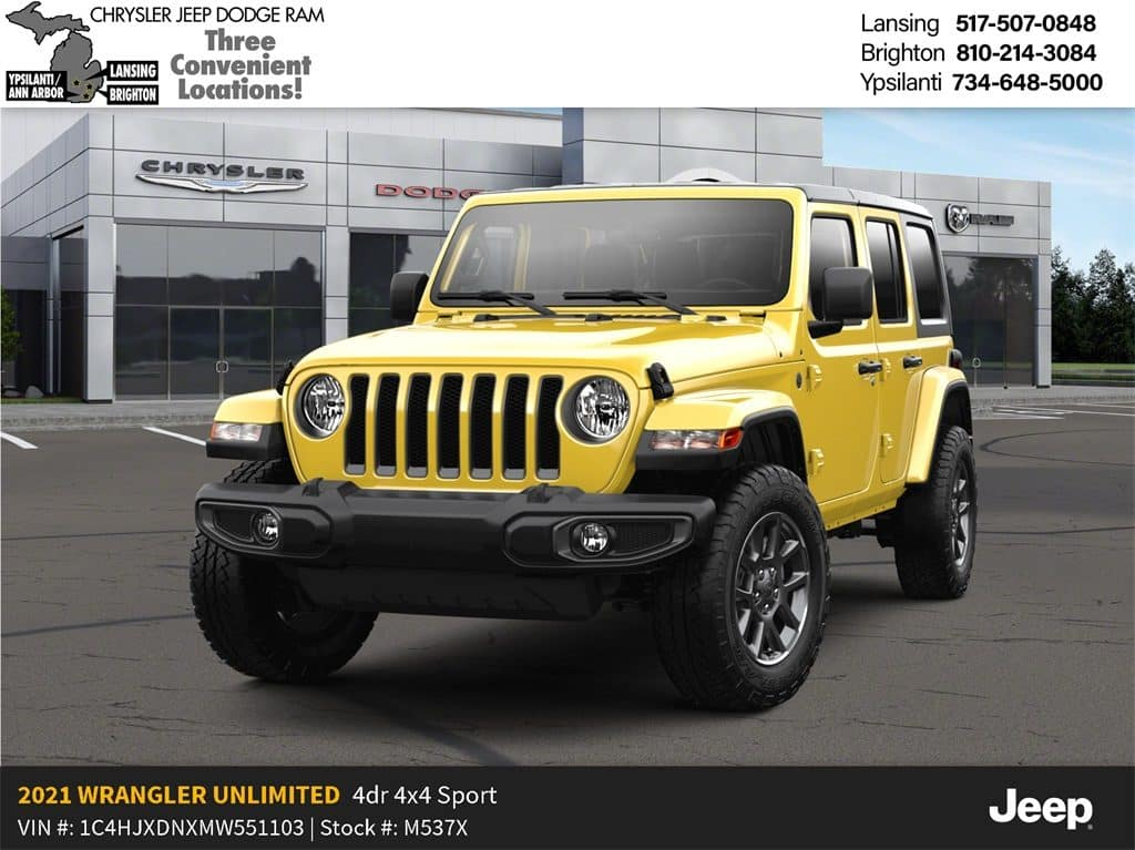 2021 Jeep Wrangler Unlimited 80th Anniversary 4x4 Lease Offer