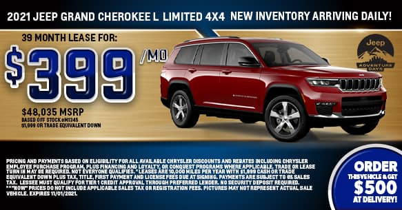2021 Jeep Grand Cherokee L Limited 4x4 Lease Offer