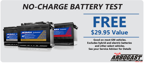 Free Battery Testing | Dave Arbogast Buick GMC