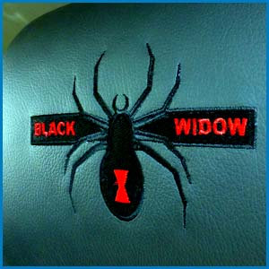 Black Widow Custom Embroidery