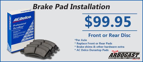 Brake Pad Install Coupon
