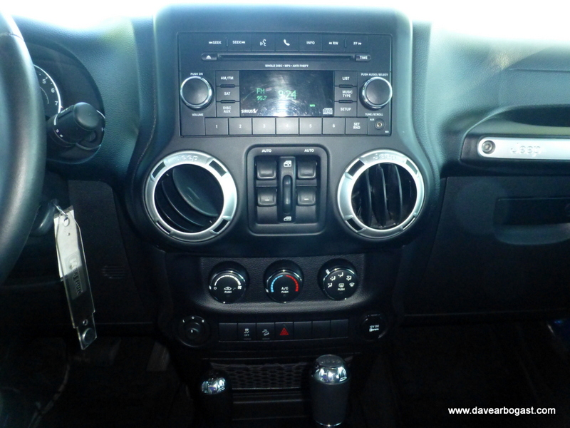 Custom Jeep comfort controls