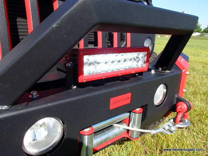 Rigid Industries Custom Jeep Light Bar Stinger Mount