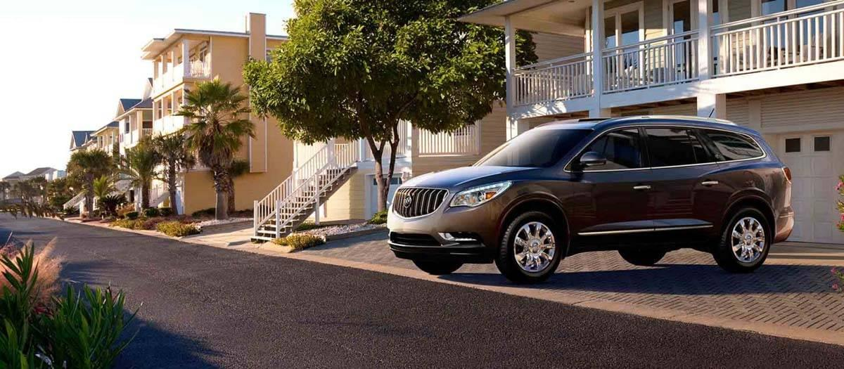 2017 Buick Enclave Parked In Driveway