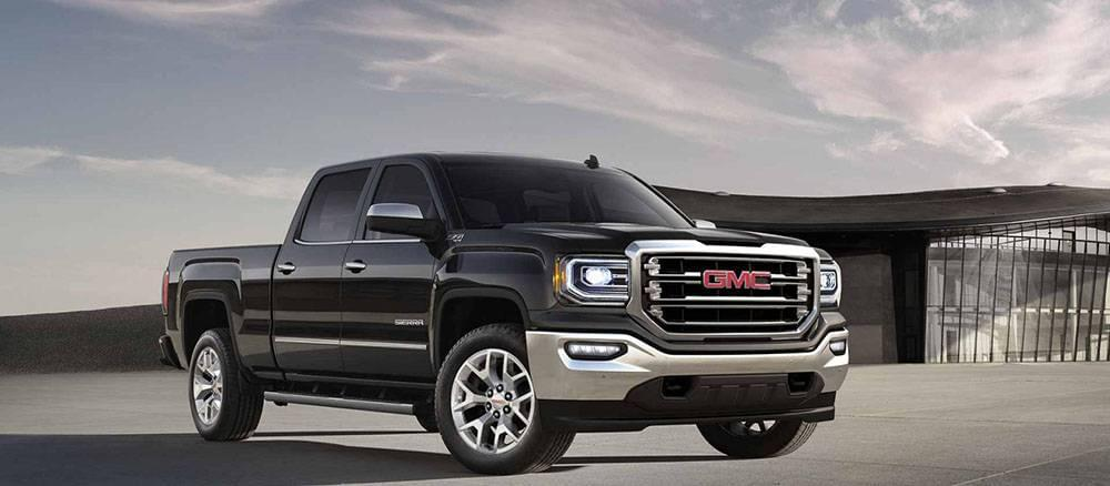 2017 GMC Sierra 1500 Crew Cab SLT in Onyx Black Gallery1