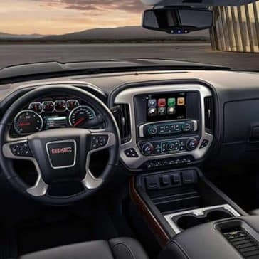 2018 GMC Sierra Interior driver's view