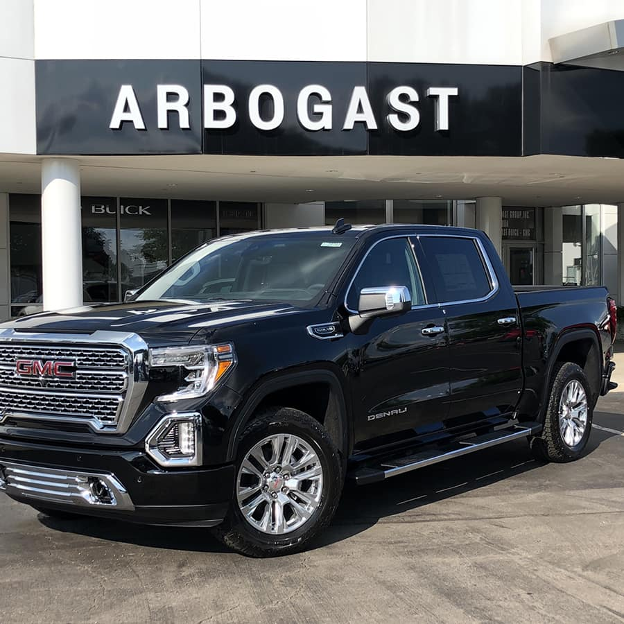 2019 GMC Sierra Denali Parked in Front of Dave Arbogast Buick GMC Dealership