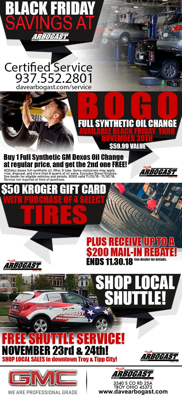 Black Friday Automotive Service Savings At Dave Arbogast November 2018