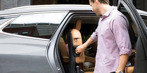 2019 Buick Enclave peek at interior through open door