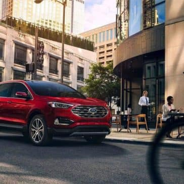 2019 Ford Edge driving down street