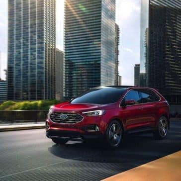 2019 Ford Edge exterior on city street