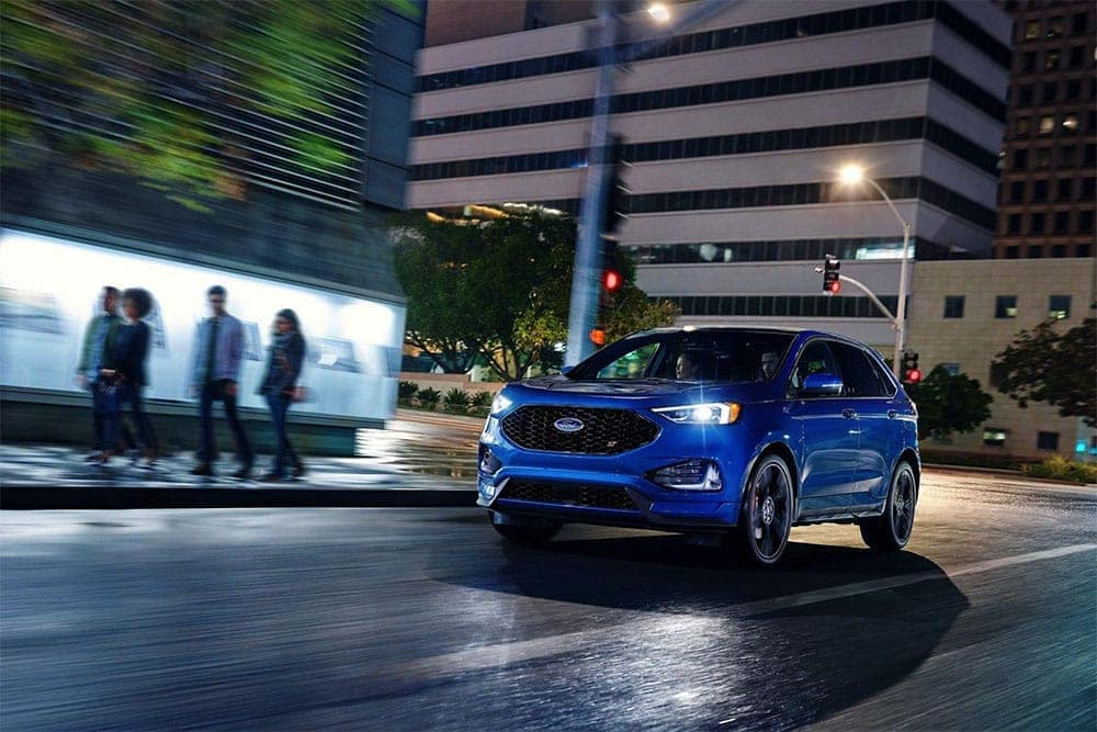 2019 Ford Edge at night