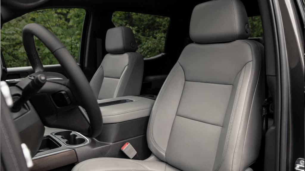2019 GMC Sierra front interior