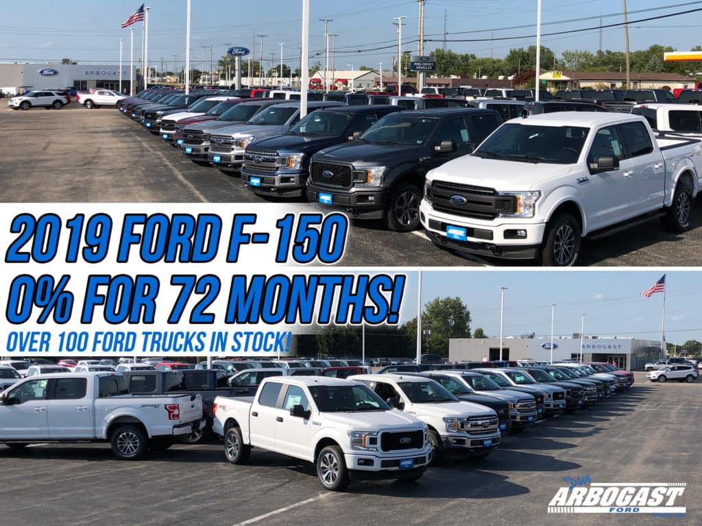 0 Percent Financing New 2019 Ford F-150