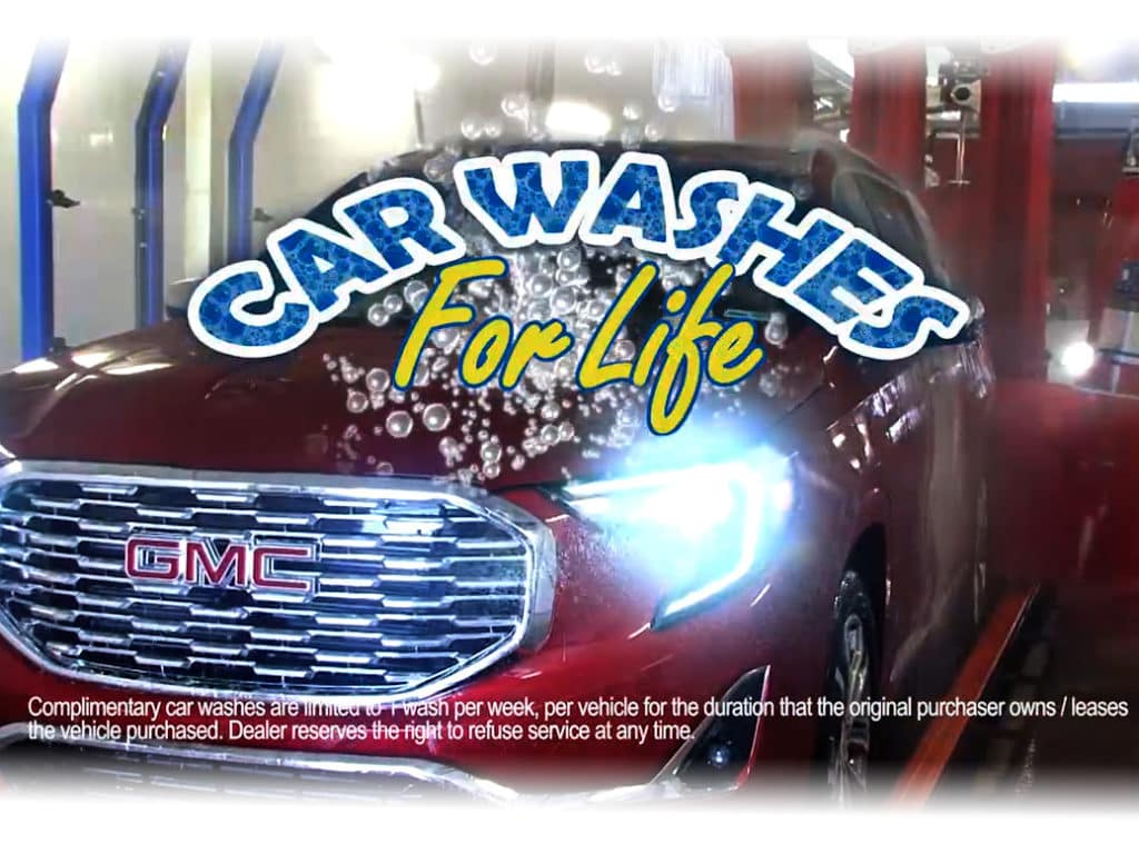 Complimentary Car Washes for Life!
