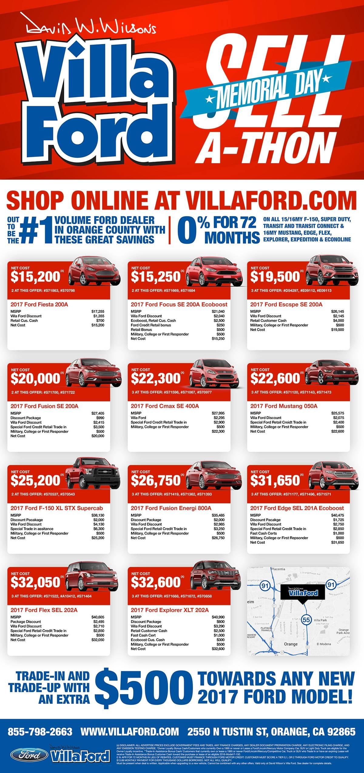 Villa Ford Memorial Day Sell-A-Thon