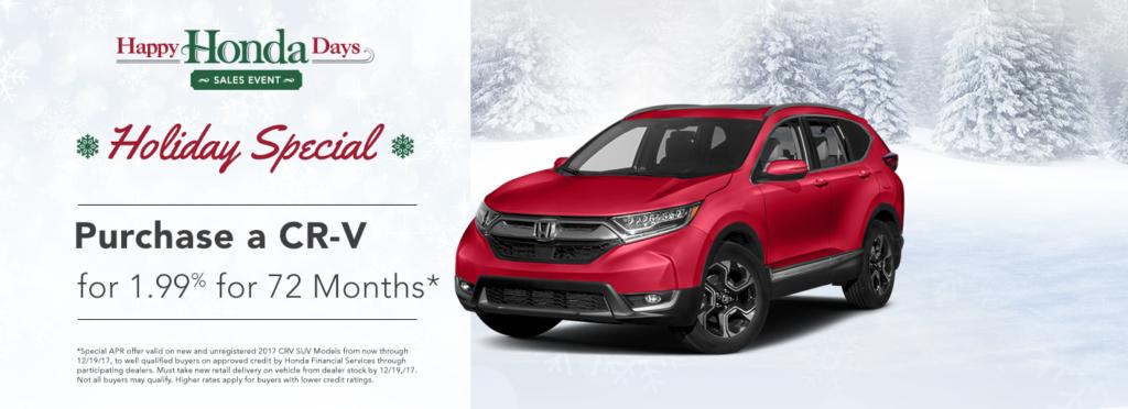 Happy Honda Days CR-V Specials
