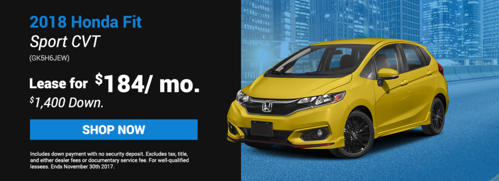 2018 Honda Fit Sport CVT Specials