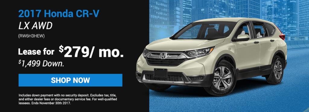 2017 Honda CR V LX AWD Specials