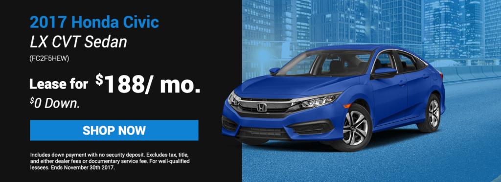 2017 Honda Civic LX CVT Sedan Specials