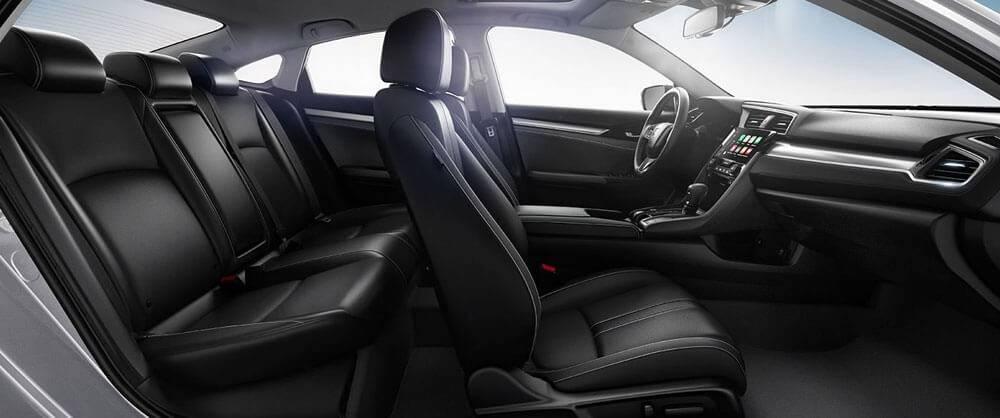 2017 Honda Civic front interior seating