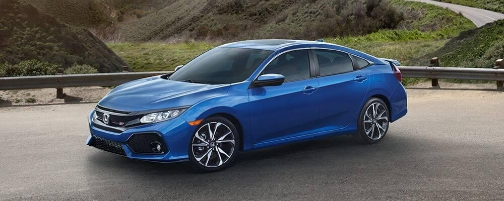 2017 Honda Civic Si blue exterior model