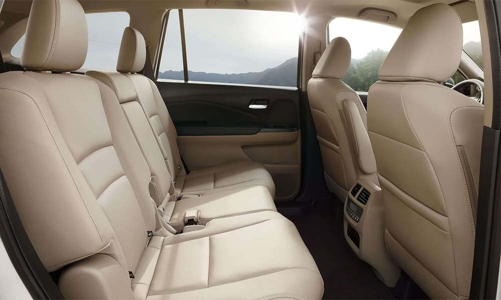 2018 Honda Pilot rear interior seating