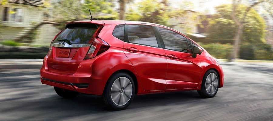 2019 Honda Fit red exterior