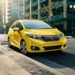 yellow Honda Fit