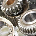 engine parts and gears disassembled