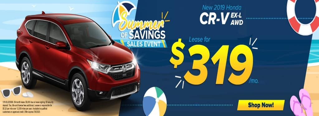 Honda CRV June 2020 Lease Offer