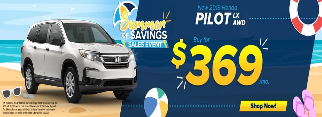 Honda Pilot June 2020 Lease Offer