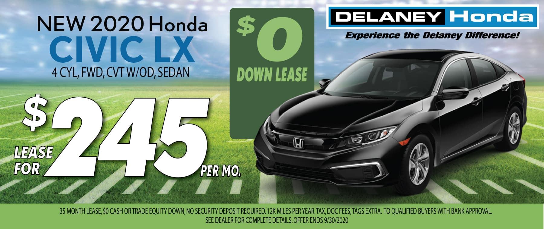 Honda Civic Lease Offer