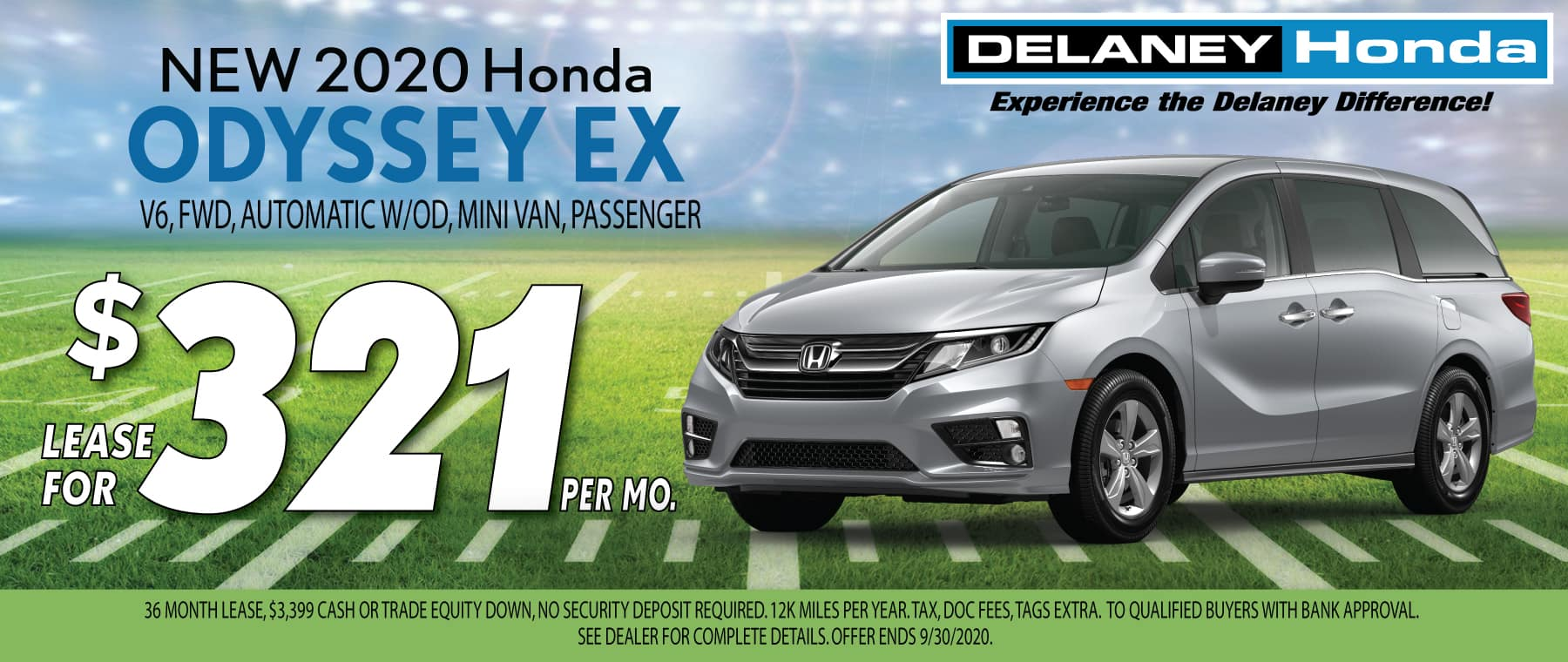 Honda Odyssey Lease Offer