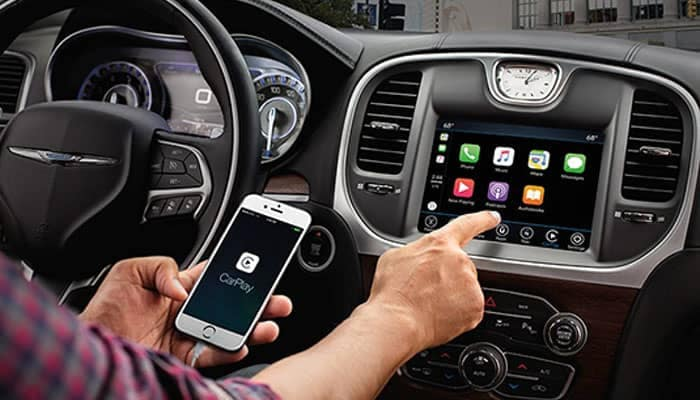 Man Connecting Apple Carplay