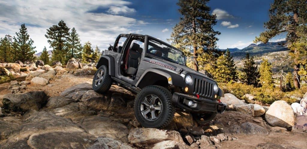 2018 Jeep Wrangler on Rocky Trail