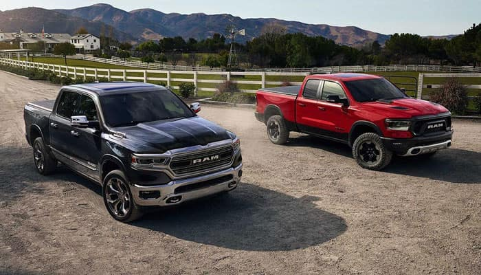2019 Ram 1500 Two Trucks Line Up