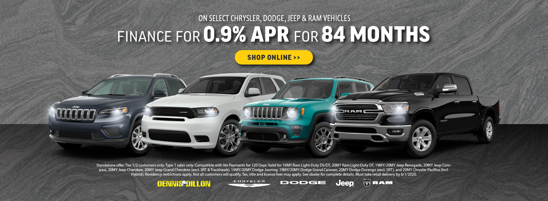 0.9% APR for 84 Months