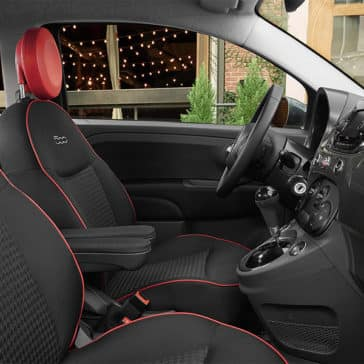 2017 Fiat 500 Interior Black Red Accents
