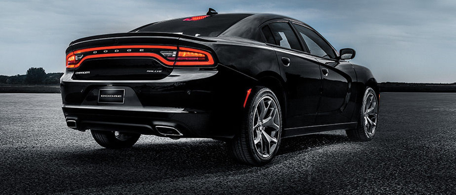 2016 Dodge Charger Black Rear